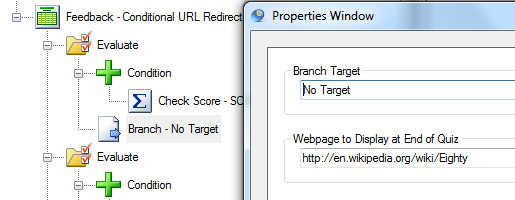 Redirect user to Webpage