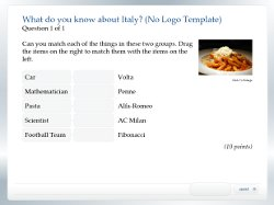 HTML5 Quiz sample