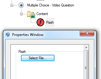 Insert Video as Part of the Flash Content Model