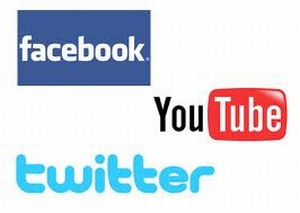 Facebook, Twitter & Youtube Logo