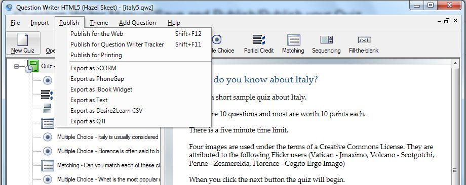 Question Writer Publish