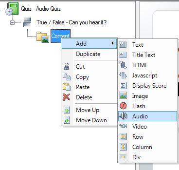 add audio content