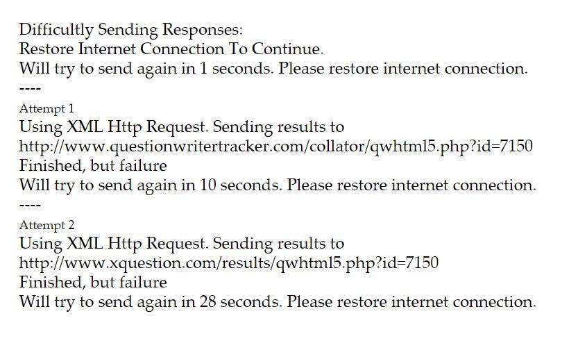 results error message