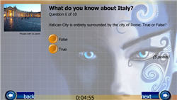 Blue Nymph Flash Quiz Template