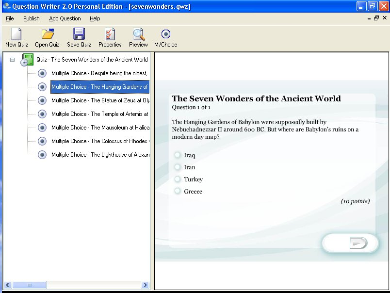 Click to view Question Writer 3 Basic 3.0 screenshot